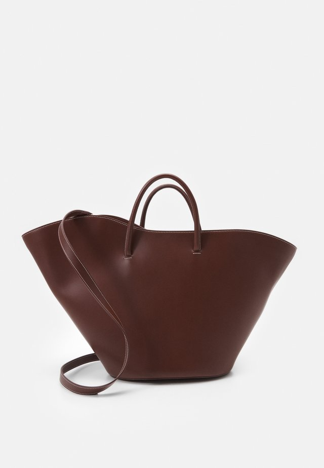 OPEN TULIP LARGE - Shopping bag - chestnut