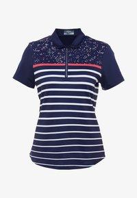 Callaway - CONFETTI PRINT WITH STRIPES - T-shirt sportiva - peacoat - 4