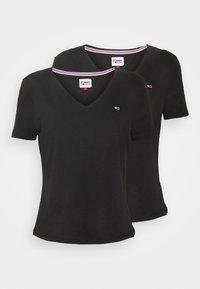 Tommy Jeans - 2PACK V NECK TEE - T-shirt z nadrukiem - black - 3