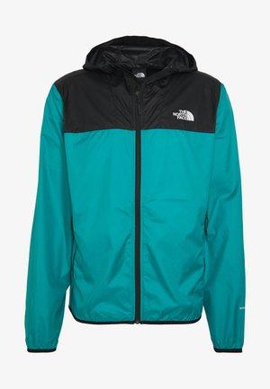 MENS CYCLONE 2.0 HOODIE - Waterproof jacket - black/fanfare green