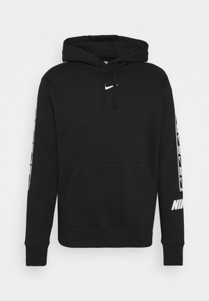 REPEAT HOODIE  - Sweat à capuche - black/white