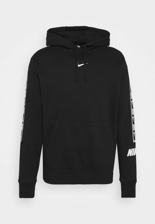REPEAT HOODIE  - Hoodie - black/white