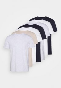 7 PACK - T-shirt basic - pink/white/grey/nature/stone