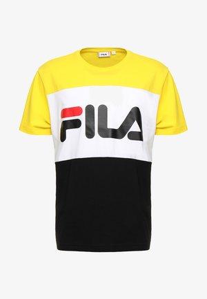 DAY TEE - Print T-shirt - black empire yellow bright white