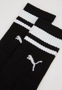 Puma - CREW HERITAGE STRIPE  2 PACK - Socks - black - 2