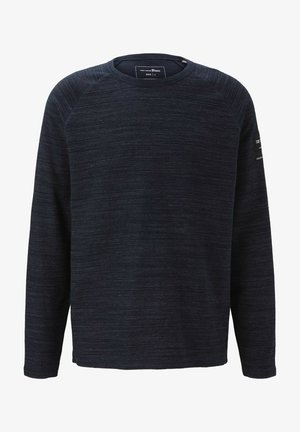 LANGARM - Long sleeved top - sky captain blue non-solid