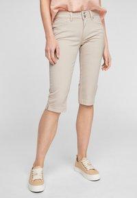 QS by s.Oliver - Denim shorts - beige - 0