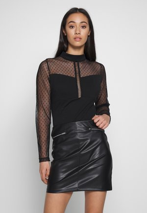 NECK TIE LONG SLEEVE - Body - black