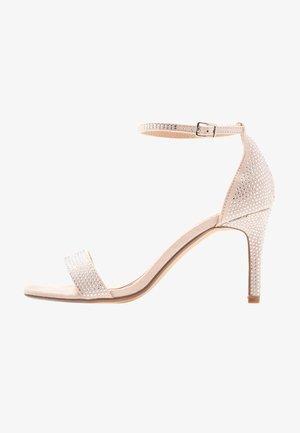 MADDI - Sandály na vysokém podpatku - nude/metallic