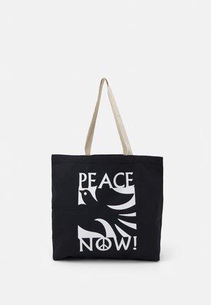 PEACE NOW UNISEX - Tote bag - black