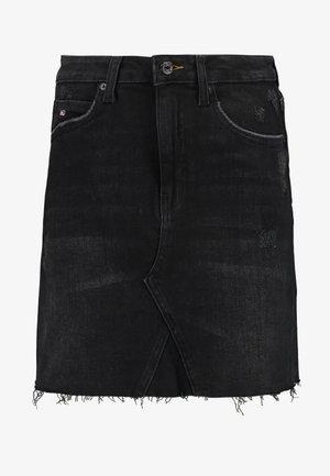 SHORT SKIRT - Spódnica mini - black denim