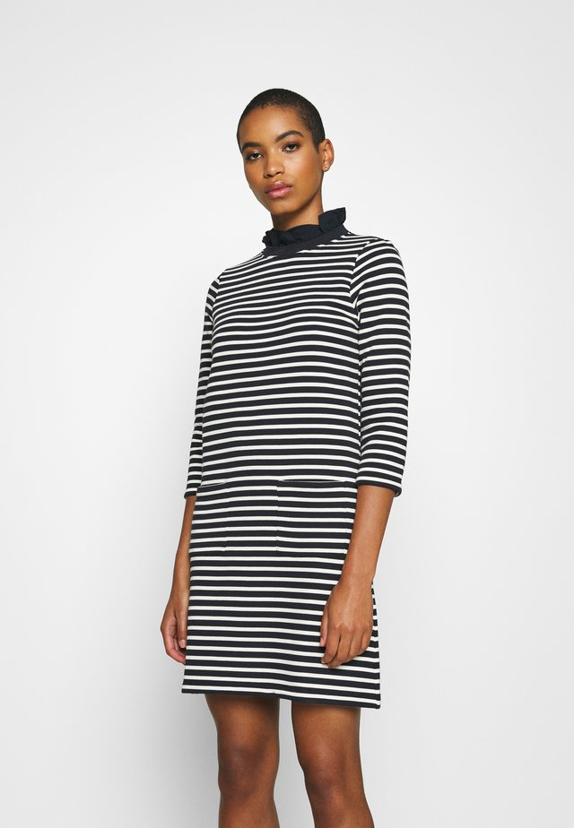 DRESS STRIPED - Day dress - deep blue