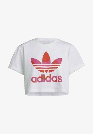 Print T-shirt - white/vivid red/team real magenta
