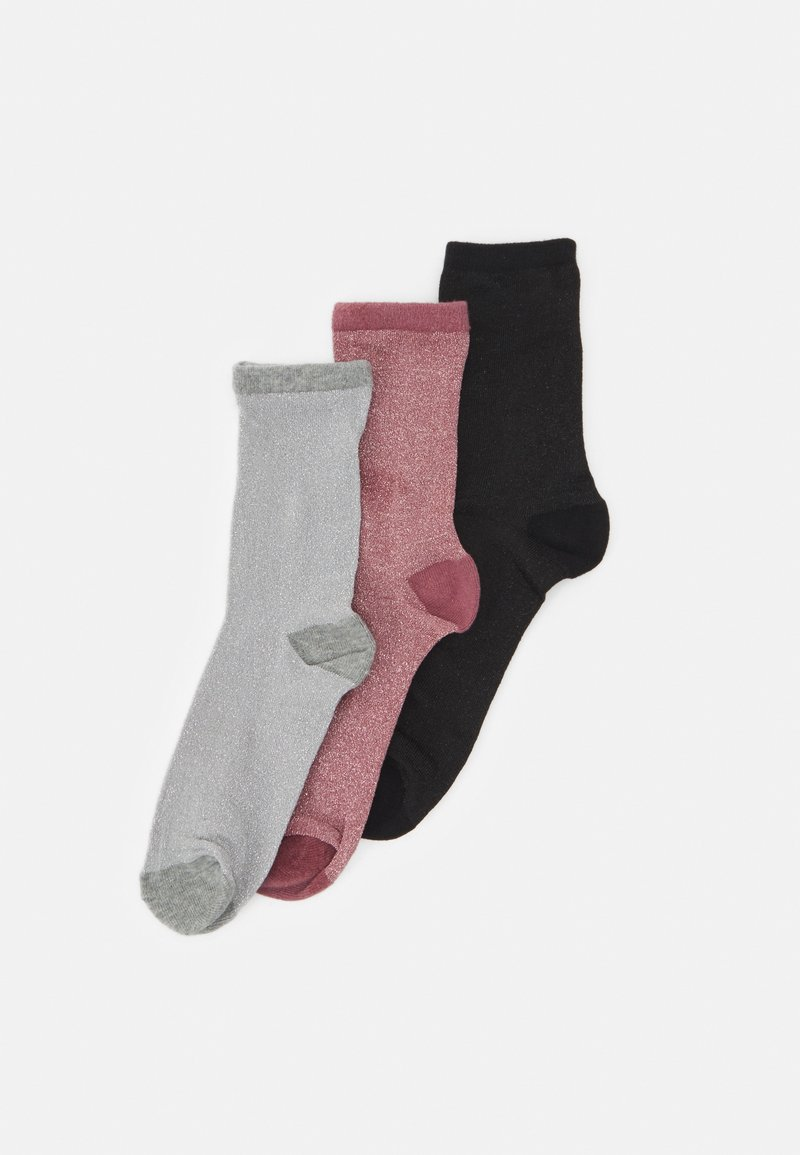 Becksöndergaard - DINA SOLID MIX 3 PACK - Socks - black/grey/mauve