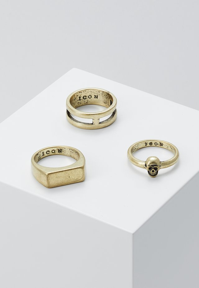 3 PACK - Bague - gold-coloured