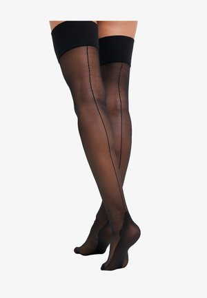 SEAMED STOCKING - Overknee-strømper - black