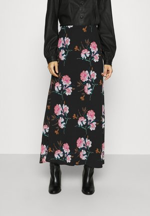 BIAS MIDI SLIP PRINT - Gonna lunga - black