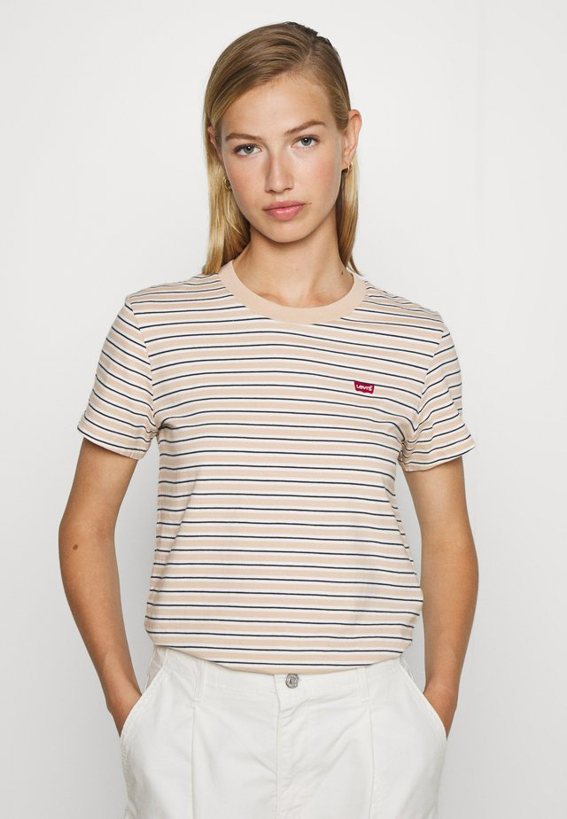 PERFECT TEE - Print T-shirt - moonstone toasted almond