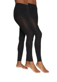 FALKE - 2 PACK - Leggings - Stockings - black - 1