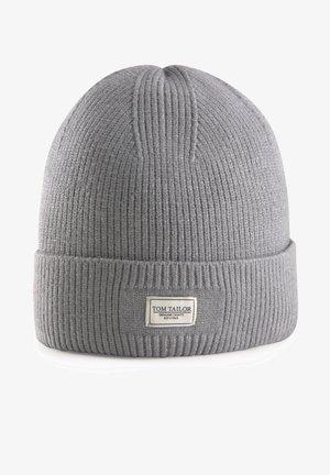 MIT LOGO-BADGE - Beanie - knit grey melange