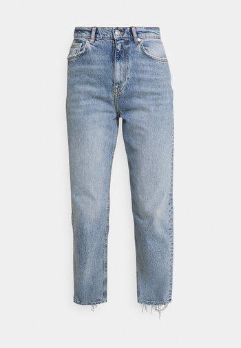 UNNI CROPPED - Jeans straight leg - sea blue