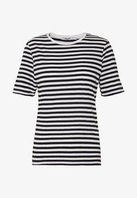 NA-KD - STRIPED TEE - T-shirt print - black/white - 4