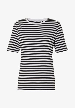 STRIPED TEE - Print T-shirt - black/white