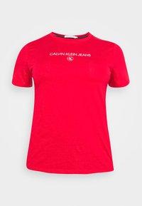 Calvin Klein Jeans Plus - ROUND TEE - Print T-shirt - red - 3