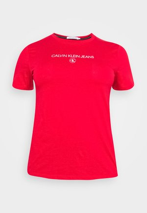 ROUND TEE - T-shirts med print - red