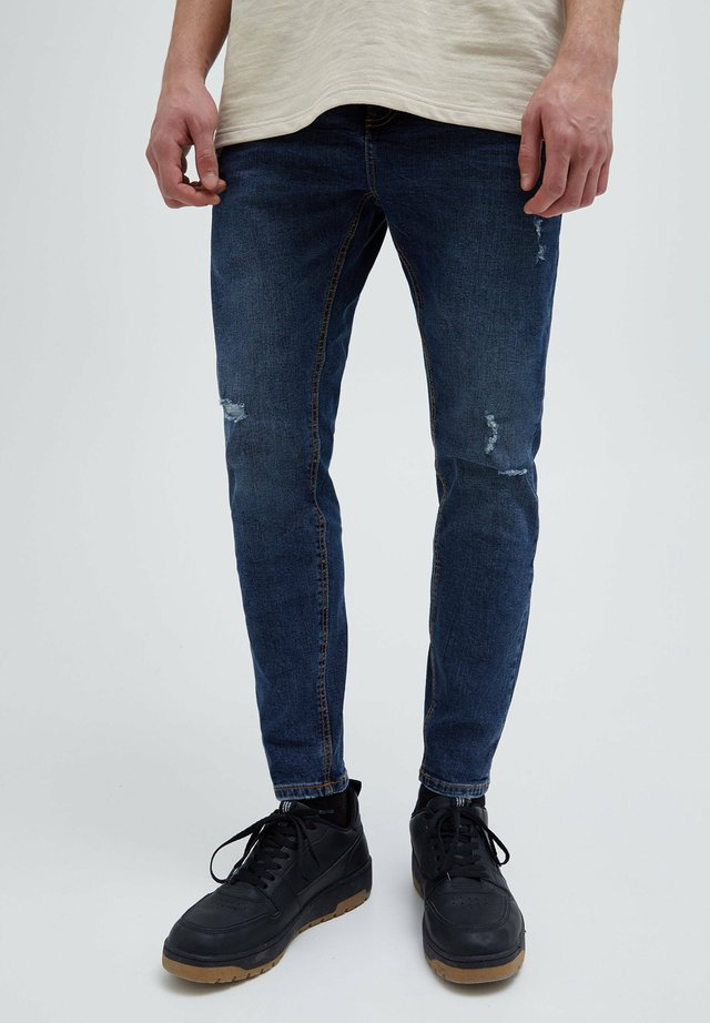 Jeans slim fit - mottled dark blue