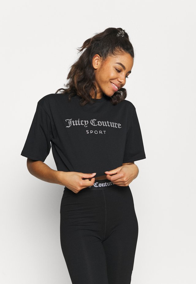 CARLA CROP  - T-shirt imprimé - black