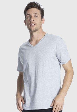 REGULAR FIT - Pyjama top - grey melange