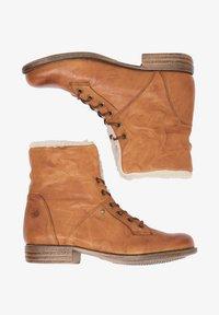 DreiMaster - Lace-up ankle boots - cognac - 0