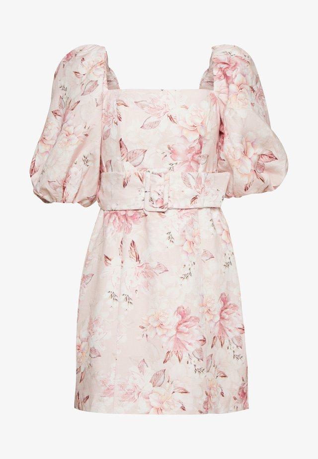 PUFF SLEEVE MINI - Vapaa-ajan mekko - pink