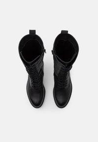 Zign - Šněrovací vysoké boty - black - 5