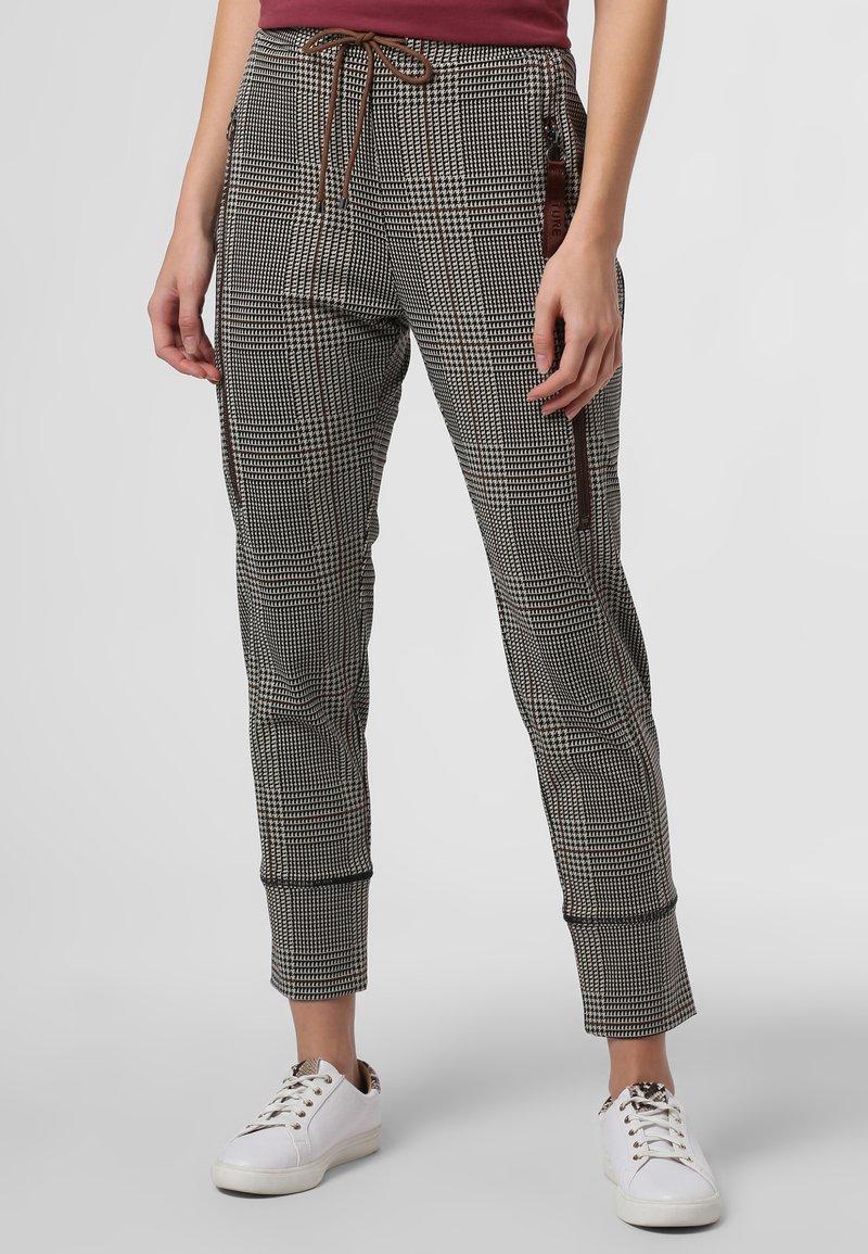 MAC - Leggings - Trousers - beige schoko