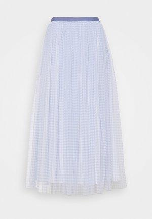 GINGHAM BALLERINA SKIRT - A-line skirt - wedgewood blue/ivory