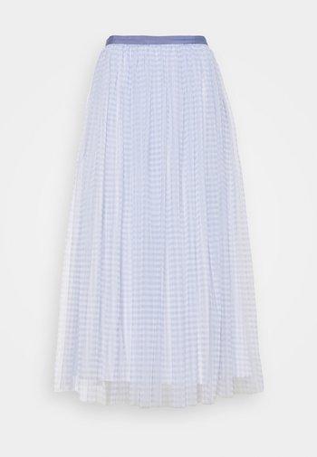 GINGHAM BALLERINA SKIRT - Áčková sukně - wedgewood blue/ivory
