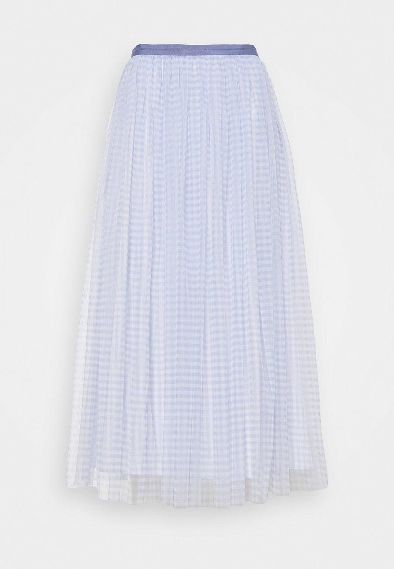 Needle & Thread - GINGHAM BALLERINA SKIRT - Áčková sukně - wedgewood blue/ivory
