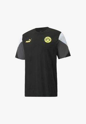 BVB FTBLCULTURE FOOTBALL TEE - Print T-shirt - puma black-safety yellow