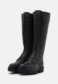 Even&Odd Wide Fit - Platform boots - black - 2