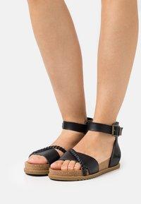 Blowfish Malibu - VEGAN FALTEN - Sandals - black - 0