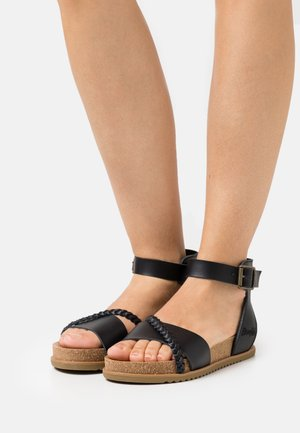 VEGAN FALTEN - Sandals - black