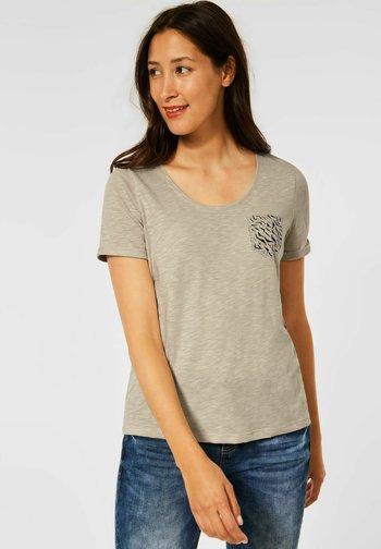 TASCHE - Print T-shirt - beige