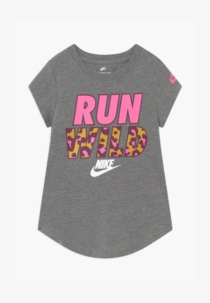 RUN WILD PRINT PARTY  - T-shirt z nadrukiem - carbon heather