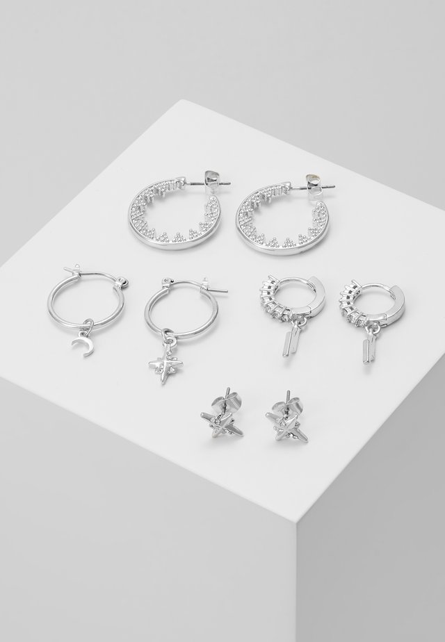 PCSPACE 4 PACK - Earrings - silver-coloured
