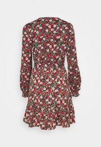 New Look Tall - ELLA FLORAL WRAP TEA DRESS - Day dress - black pattern - 1