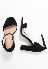 New Look Wide Fit - WIDE FIT TARONA - Sandály na vysokém podpatku - black - 3
