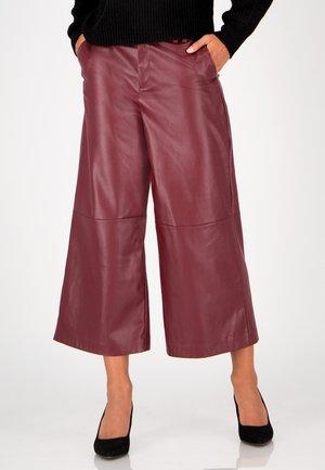 Trousers - merlot