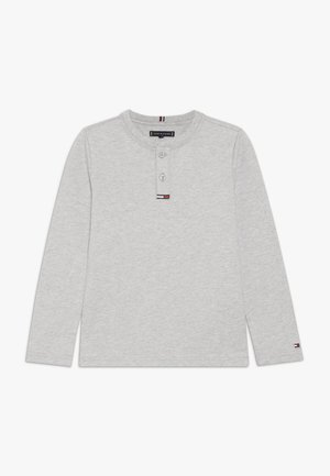 WAFFLE HENLEY TEE - Long sleeved top - grey